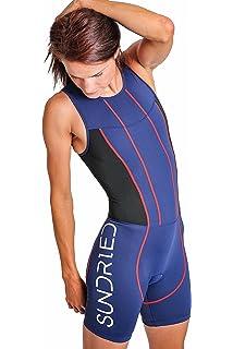 ebd53188bd Sundried Womens Premium Padded Triathlon Tri Suit Compression Duathlon  Running Swimming Cycling Skin Suit