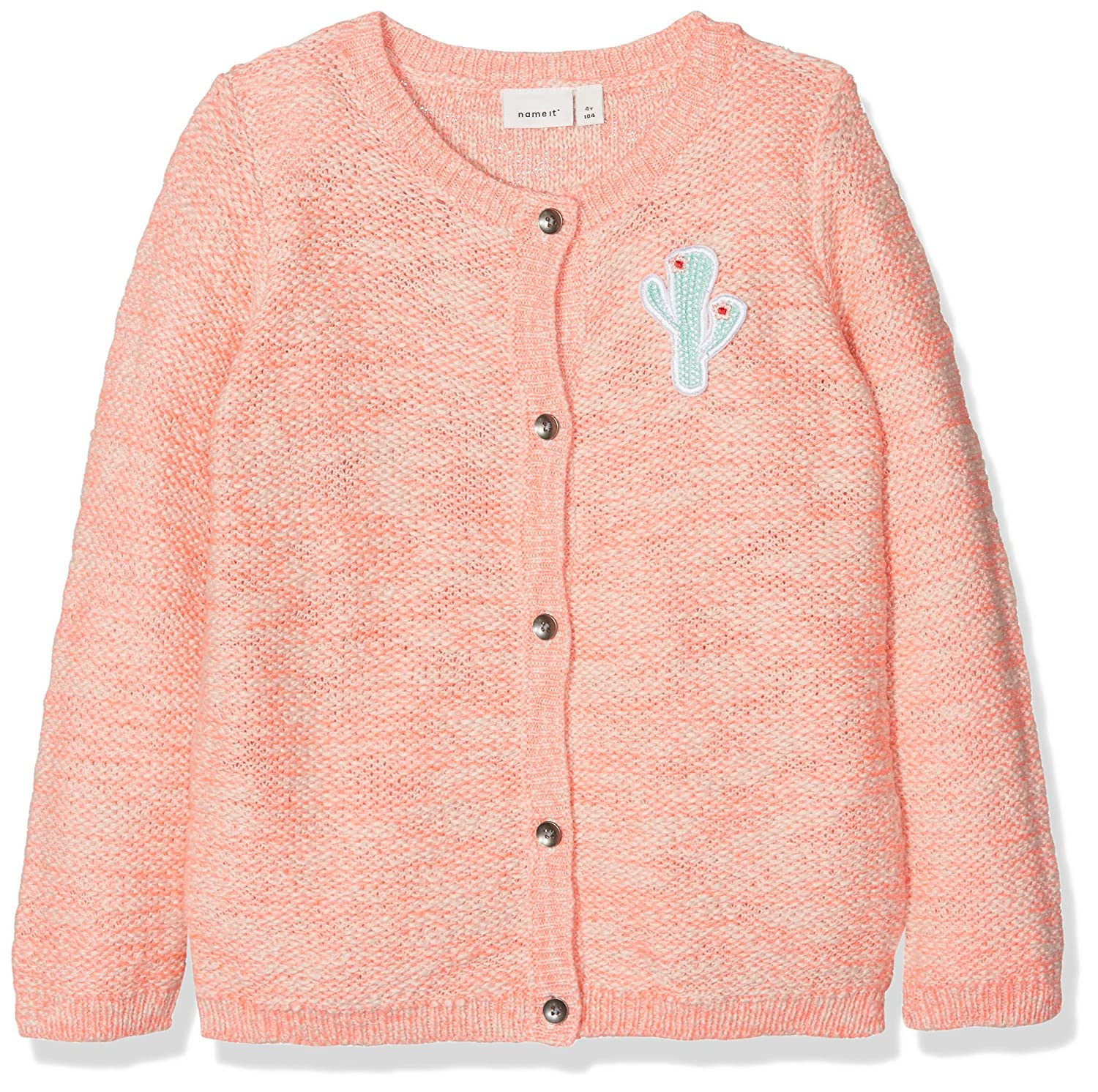 NAME IT Baby-Mädchen Strickjacke Nmfderuma Ls Knit Card 13152401