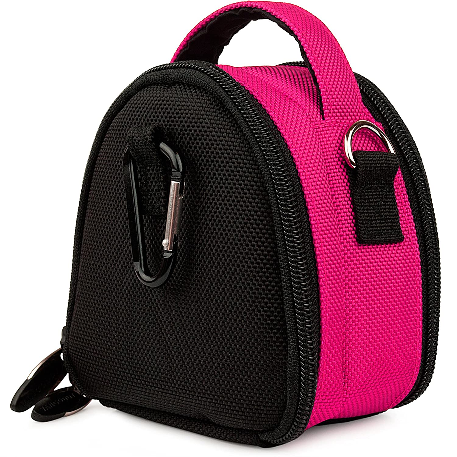 Hot Pink Camera Bag Case for Samsung AQ100 CL80 DualView ST100 DualView ST700 ES80 HZ10W MultiView MV800 PL20 PL90 PL200 Point and Shoot Digital Camera and Pink 6 Inch Mini Tripod