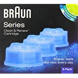 Braun Clean & Renew CCR3 Electric Shaver Refill Cartridges - Pack of 3