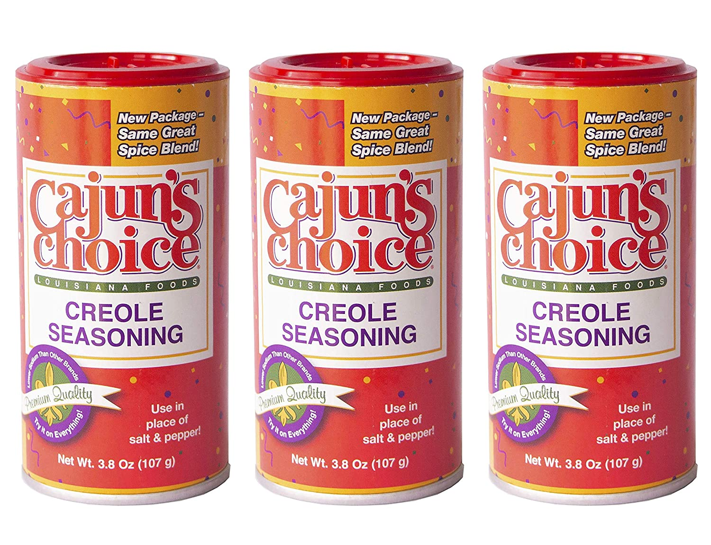 Creole Seasoning 3.8 oz Cajun's Choice Louisiana Foods (Pack of 3)