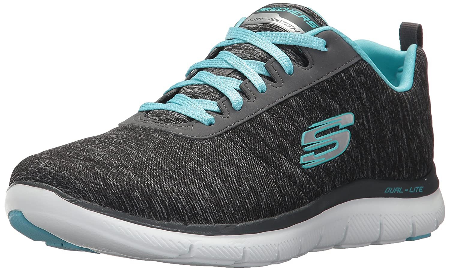Skechers Women's Flex Appeal 2.0 Sneaker B071JXBNQP 8 W US|Black Light Blue
