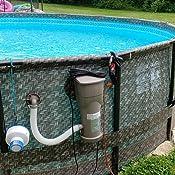 Amazon.com: Set de piscina con marco desmontable elevado del ...