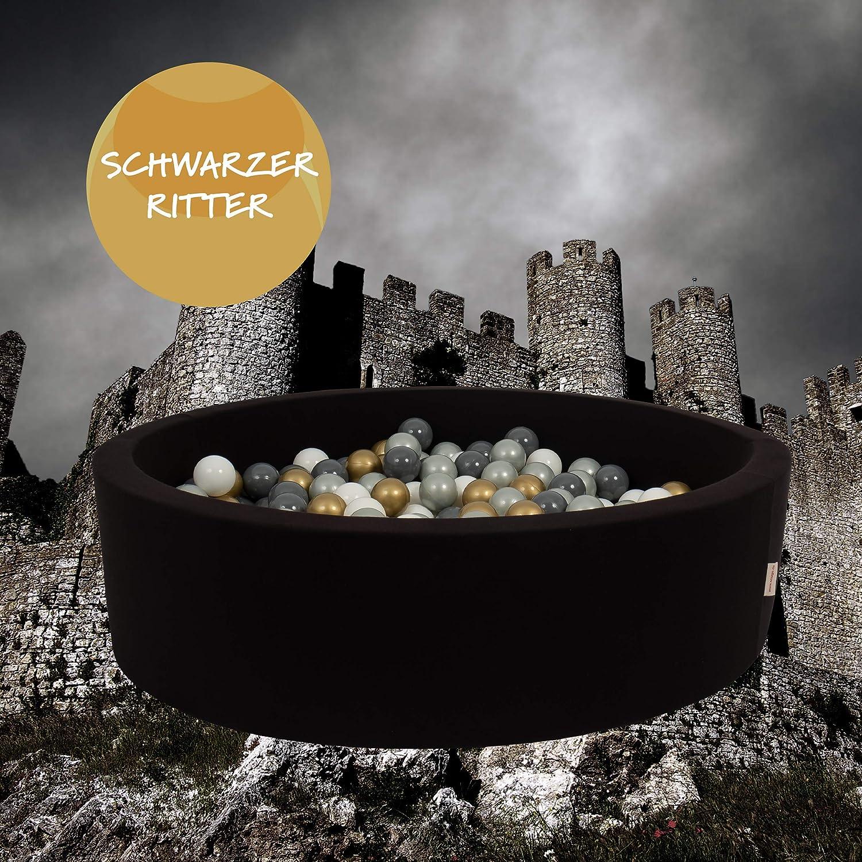 snugo Kinder Bä llebad SCHWARZER Ritter in schwarz mit ü ber 350 Bä llen-Made in Germany/Augsburg
