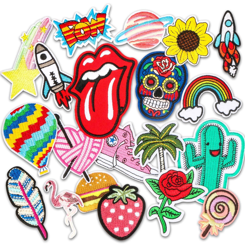 Patch Sticker, Muscccm 20 pcs Parches Ropa Termoadhesivos DIY Coser o Planchar en Los Parches Apliques para Ropa Camiseta Jeans Sombrero Pantalon Bolsas MiMoo