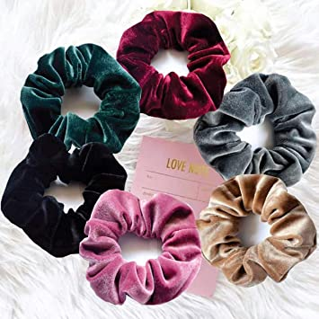6 Pastel /& Natural Shiny Hair Elastics Hairbands Bobbles Various Colours