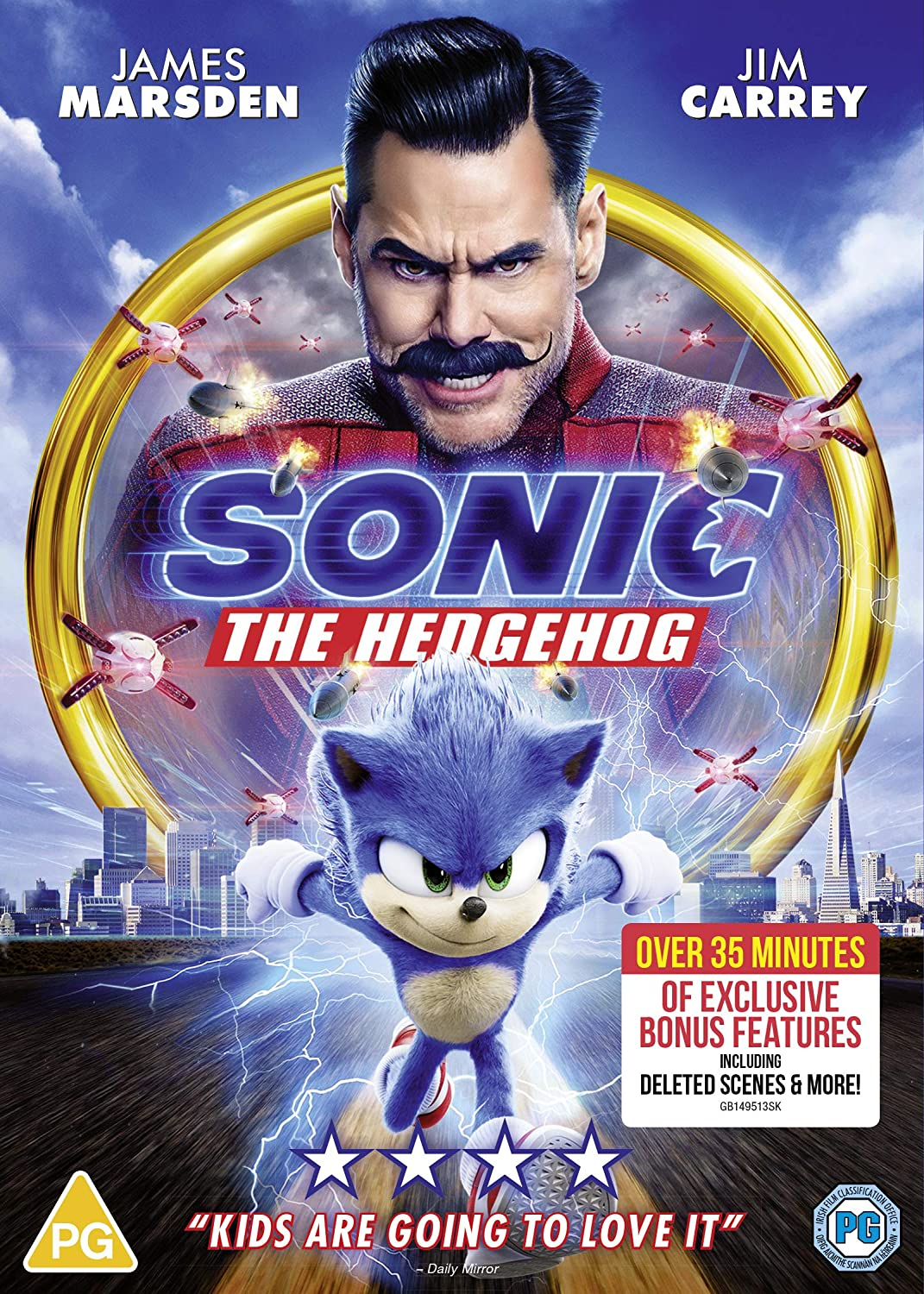 Sonic The Hedgehog Dvd 2020 Amazon Co Uk Dvd Blu Ray