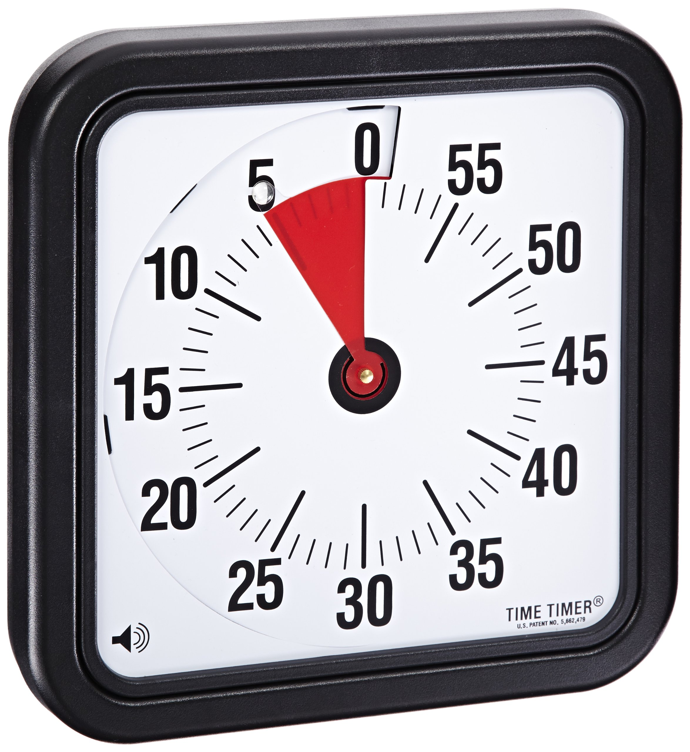 Time Timer Audible Countdown Timer, 12 Inches, Black - TTA2-W by Time Timer