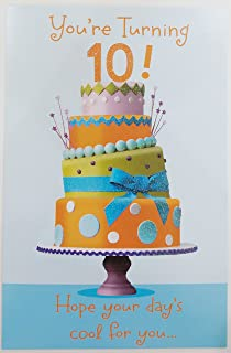 Youre Turning 10 Happy Birthday Greeting Card