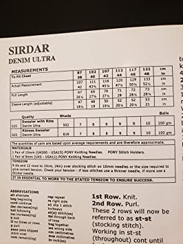 Sirdar 5116 Denim Ultra Mens Pullover Sweater Easy to Knit Knitting Pattern
