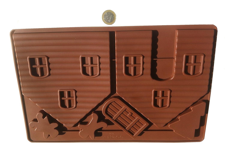 Casa de chocolate Diseño de casa de brujas bebé molde de silicona molde de silcicona para bombones con forma de caramelos para hacer chocolate Cupcake ...