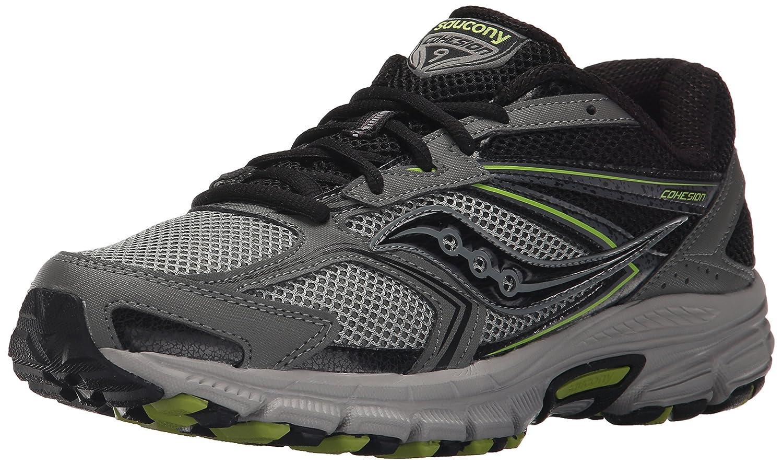Saucony Men's Cohesion TR9 Trail Running Shoe B010195YH8 12.5 D(M) US Grey/Black/Lime