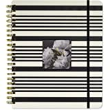 Kate Spade Mega Academic Daily Planner 2018-2019 with Daily Weekly Monthly Views and Happy Stickers (Black Stripe)