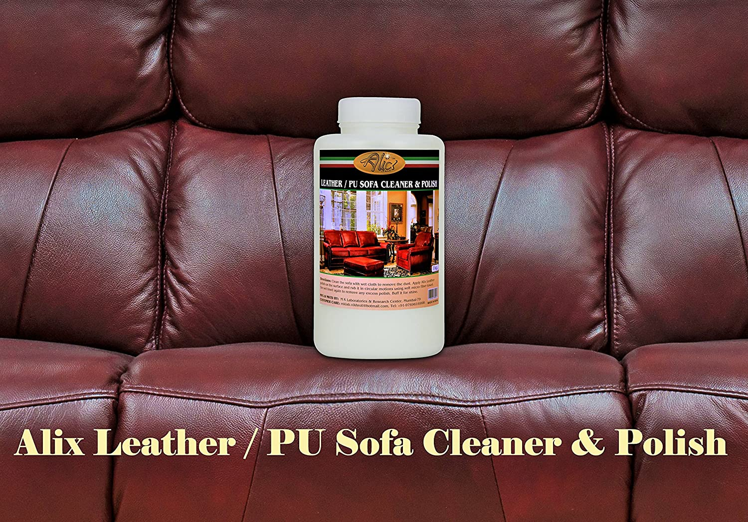 Alix Leather Sofa Cleaner And Polish 1000 Ml