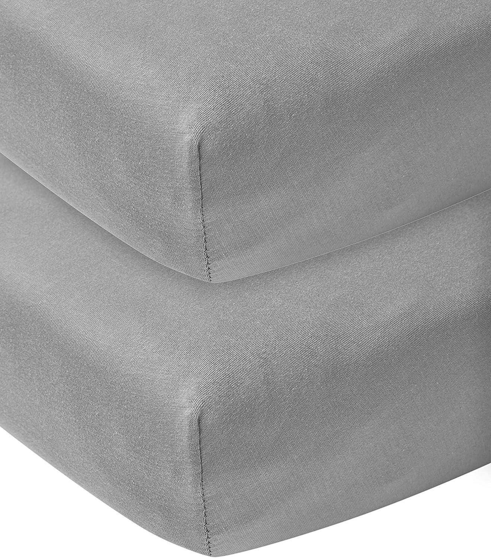 Meyco 564222 Lot de 2 draps en jersey pour lit denfant Vert pierre 60 x 120 cm