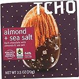 TCHO Dark Chocolate, Almond/Sea Salt At Least 70% Organic, 2.5 oz