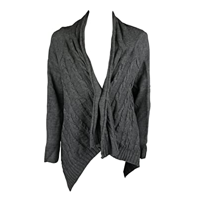 Charter Club Womens Heather Charcoal Gray Chinchilly Cardigan Sweater S at Women's Clothing store