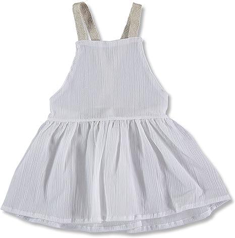 Alma Llenas. Vestido algodón bebé niña, color blanco, espalda ...