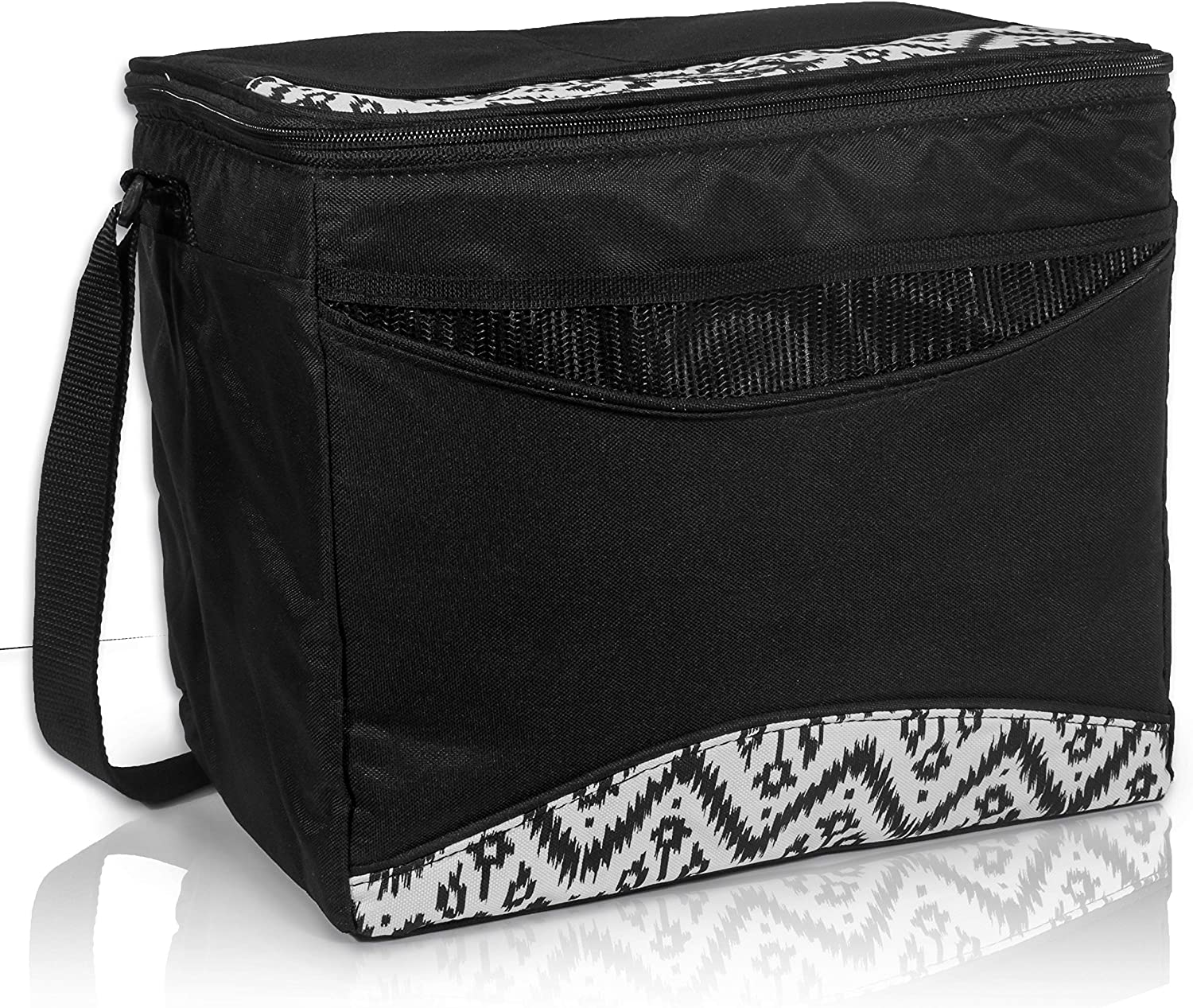 RMS Outdoors Cooler and Lunch Bag - Insulated Lunch Box for Everyday Activities - Ideal for Camping, Outdoor and Games - Fully Foldable & Collapsible for Easy Storage (12 Can)