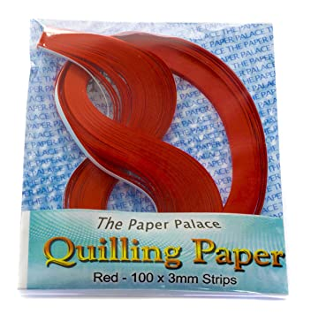 Molde Master Quilling Tiras de Papel, Rojo, 3 mm, 100 Unidades: Amazon.es: Hogar
