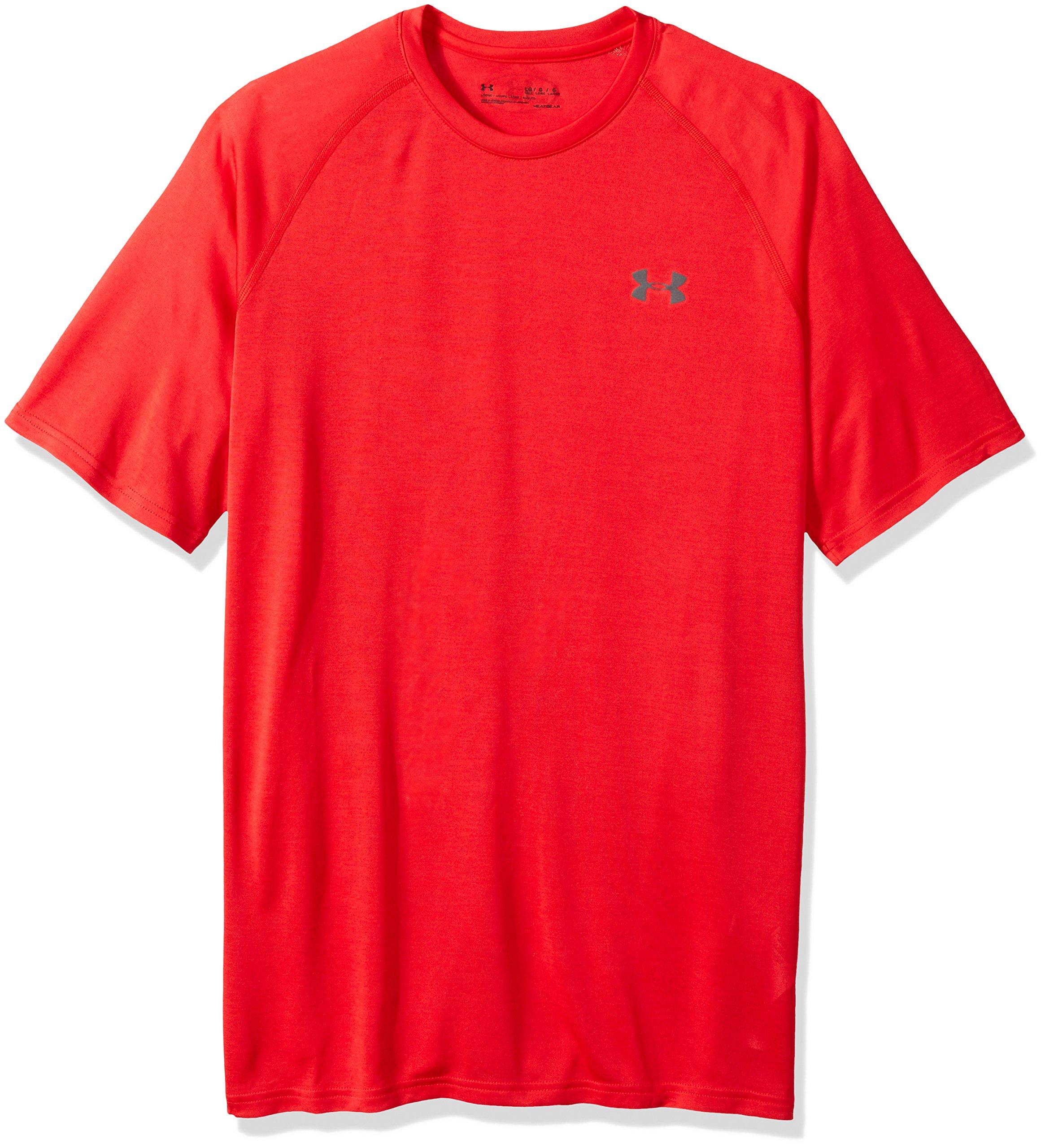 Under Armour Men's Tech Short Sleeve T-Shirt, Pierce (629)/Rhino Gray, Small