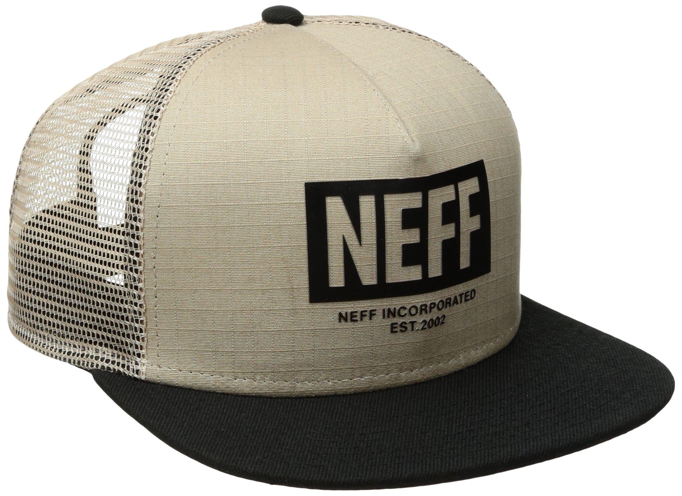 NEFF Men's Phalieber Trucker Hat, Stone/Black, One Size