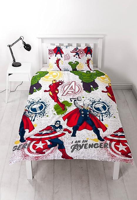 Copripiumino Singolo Avengers.Disney Marvel Avengers Mission Set Copripiumino Singolo Con