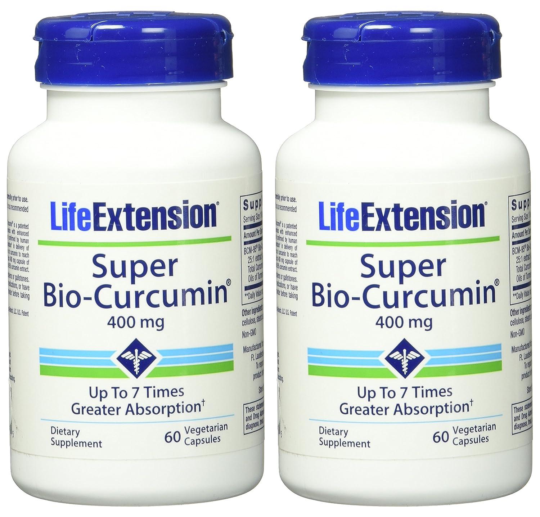 Life Extension Super Bio Curcumin 400 mg Caps, 60 ct (Pack of 2): Amazon.es: Salud y cuidado personal