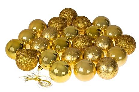 christmas ornaments variety set gold christmas decor theme glitter gloss mirror - Gold Christmas Ornaments