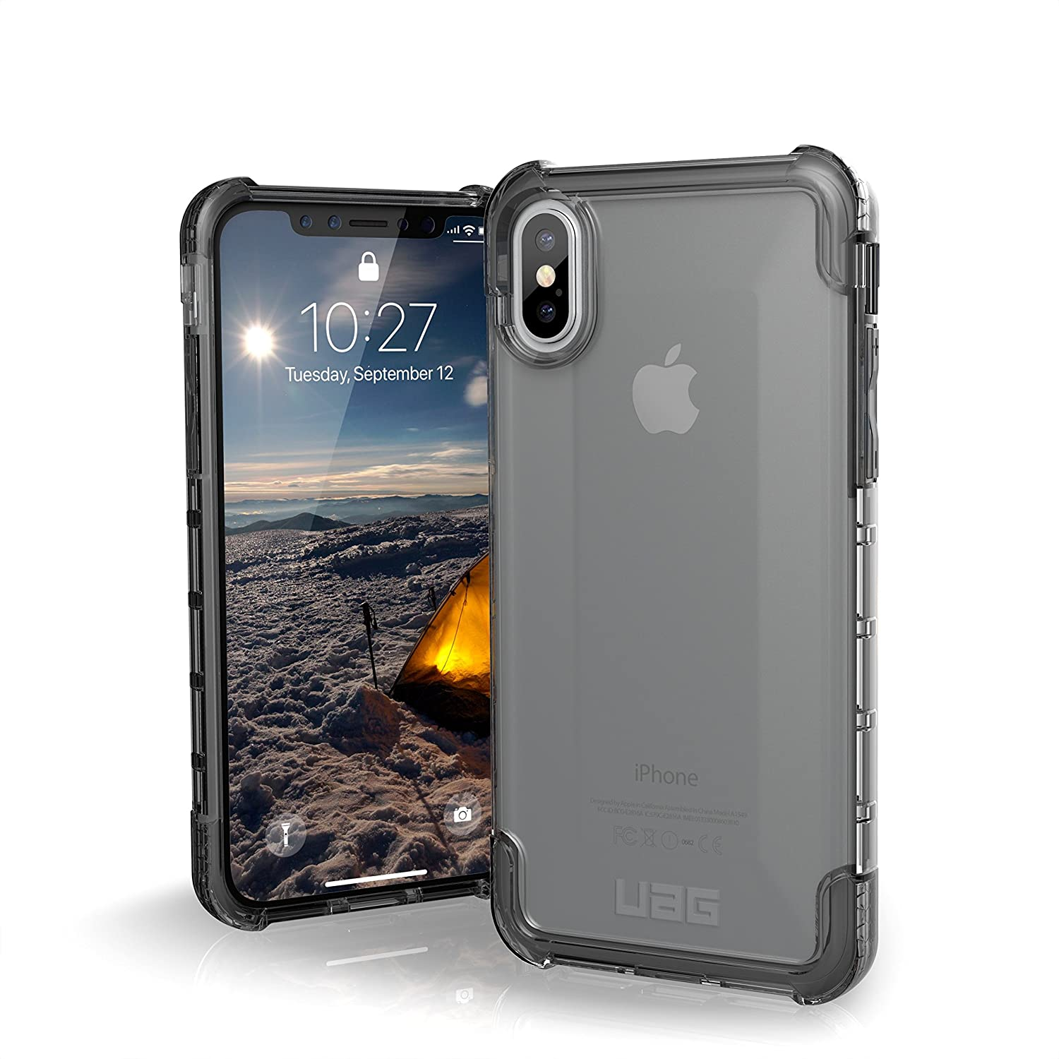 classic fit f47a3 8ef5c UAG iPhone Xs/X [5.8-inch Screen] Plyo Feather-Light Rugged [Ice] Military  Drop Tested iPhone Case