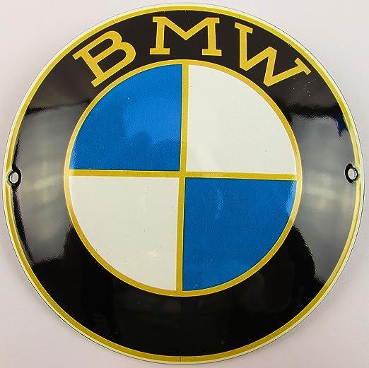 NUEVO BBV Emaille - Cartel (BMW 12 cm redondo, Classic ...