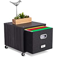 """BirdRock Home Rolling File Cabinet with 1 Lateral Drawer €"""" Decorative Storage Shelf for Blankets, Books, Files, Magazines, Toys, etc €"""" Removable Bin with Handles €"""" Under Desk Office Organizer"""