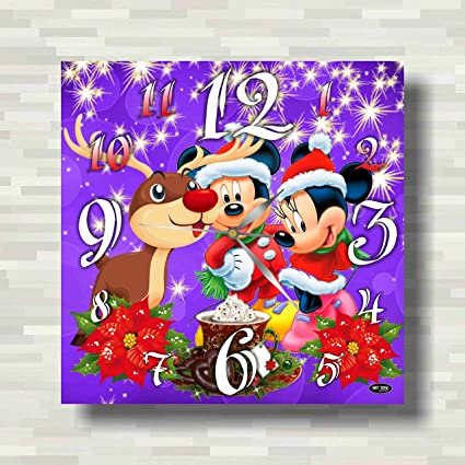 Amazon.com: Mickey Mouse and Minnie Mouse Christmas, New Year 11.4 ...