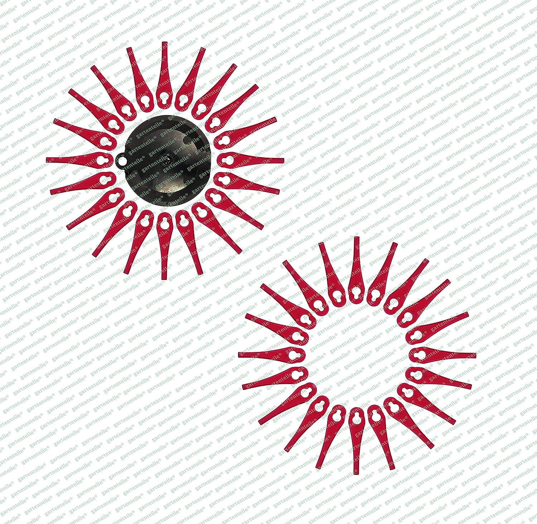 40 Kunststoffmesser Klinge Rasentrimmer Für Florabest LIDL Frta 20 A1