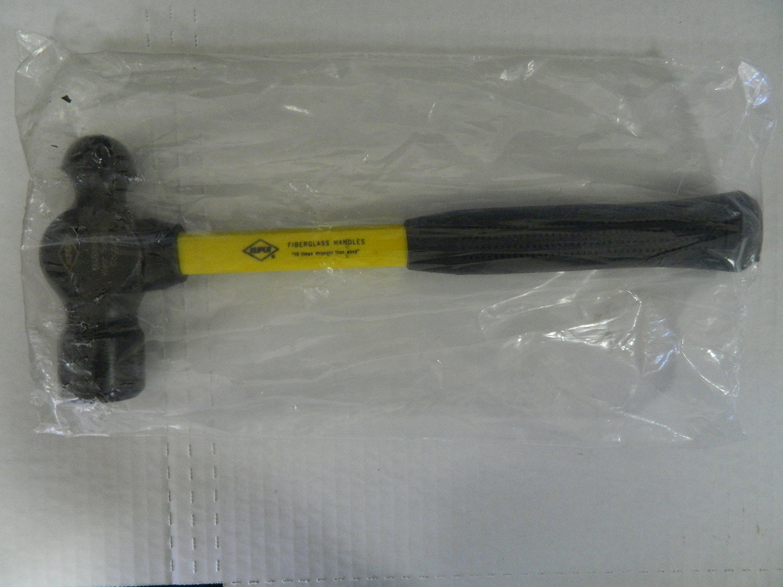 Nupla 32-Oz Cylindrical Flat Face Round Head Fiberglass Ergonomic Nonslip Hammer