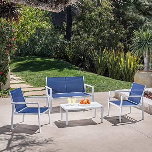 Hanover Naples 4-Piece Conversation Set