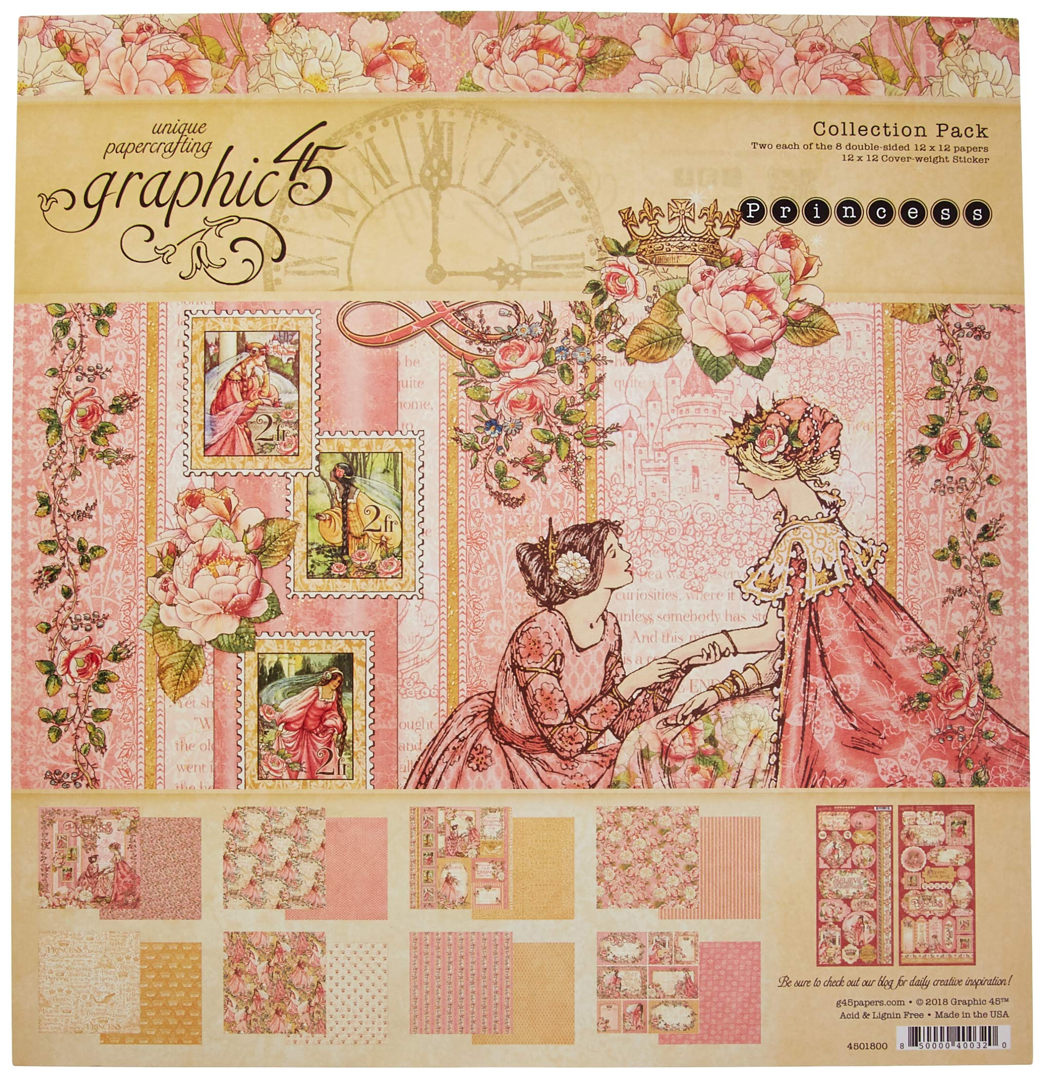 Graphic 45 4501798 Paper 12x12 Your Highness None by Graphic 45