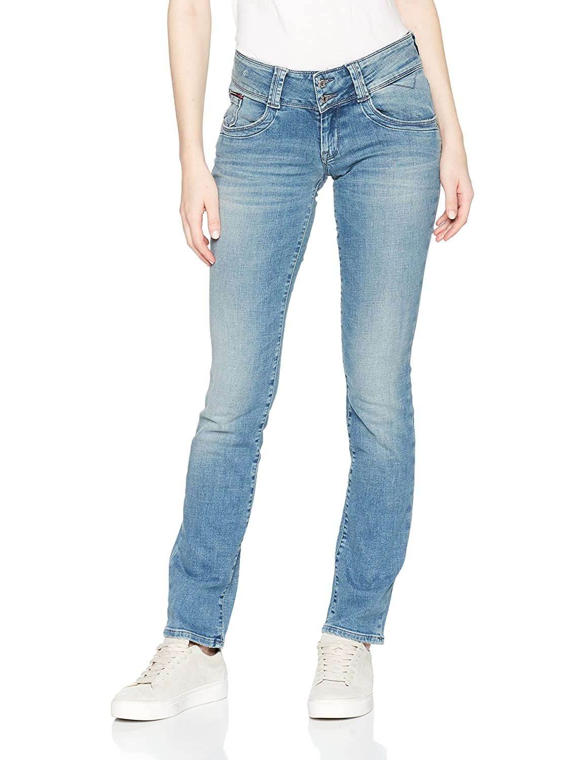 TALLA 31W / 32L. Tommy Jeans Mujer Low Rise  Viola jeans rectos  recta