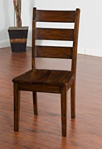 Sunny Designs Tuscany Ladderback Chair with Wood Seat