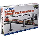 Bachmann Trains 18 PC. E-Z TRACK GRADUATED PIER SET - For Use with HO or On30 Scale E-Z Track