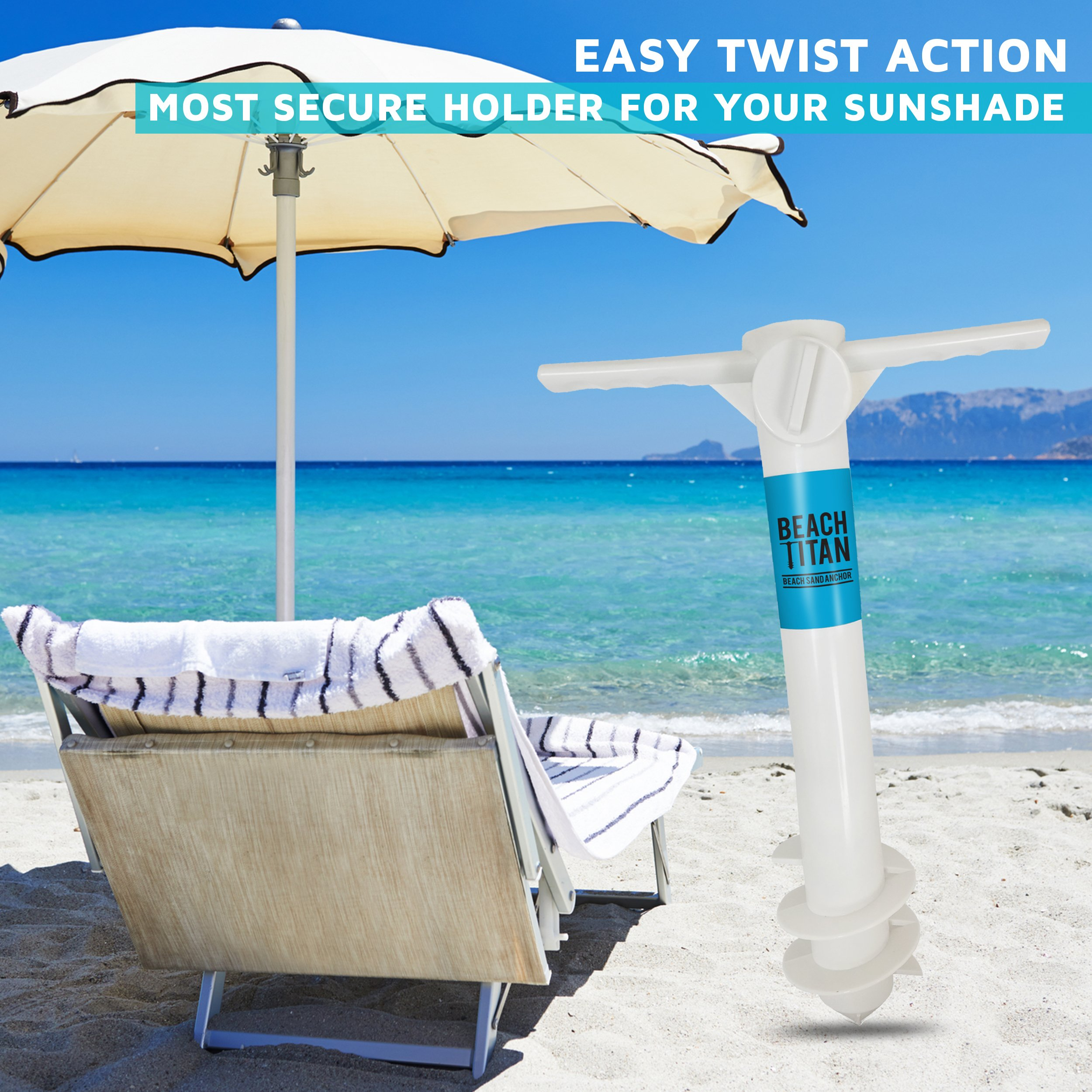 Beach Umbrella Sand Anchor – Universal Fit – Safe, Strong Wind Protection by Beach Titan (Image #4)