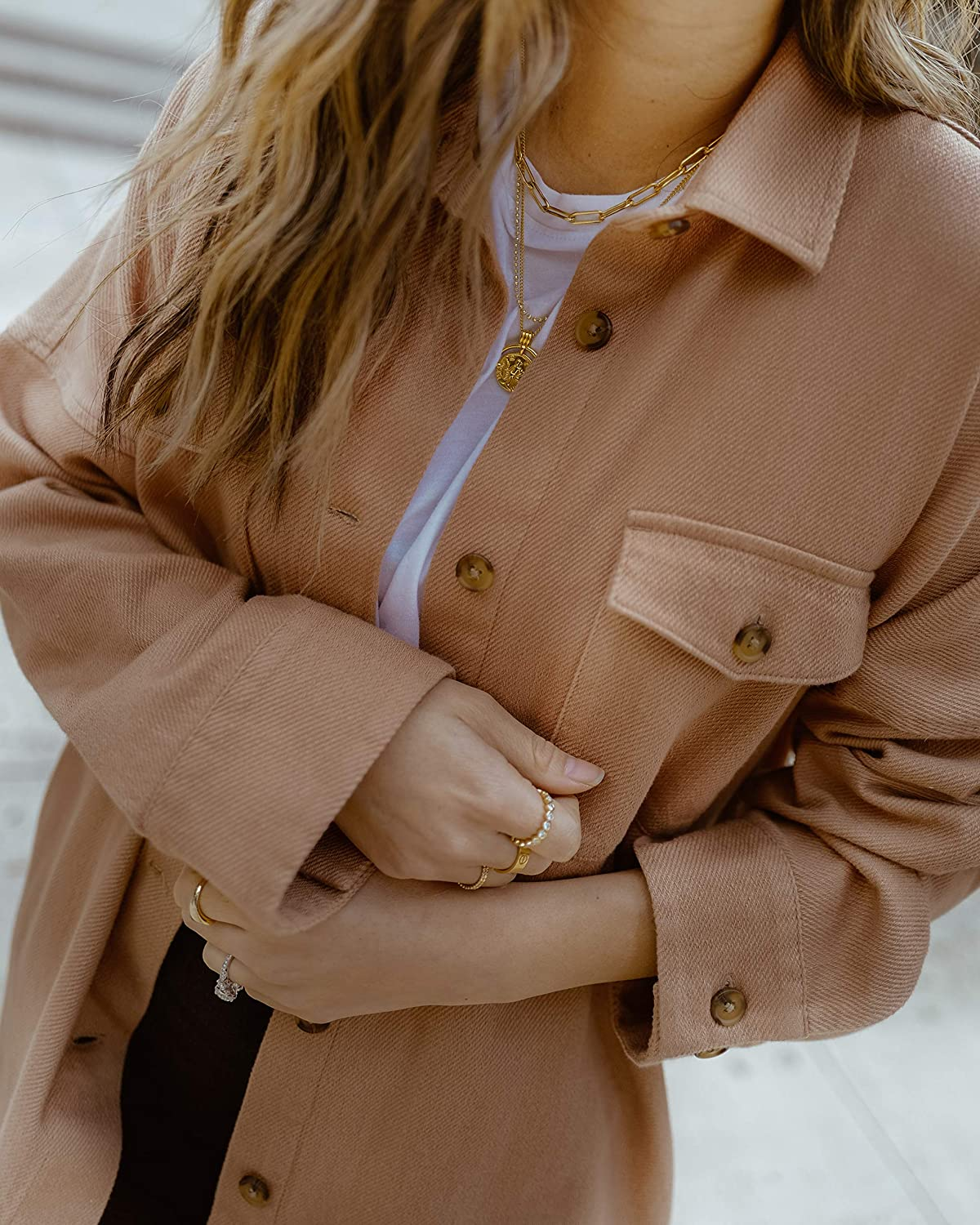 The Drop Womens Caramel Loose-Fit Overshirt by @spreadfashion