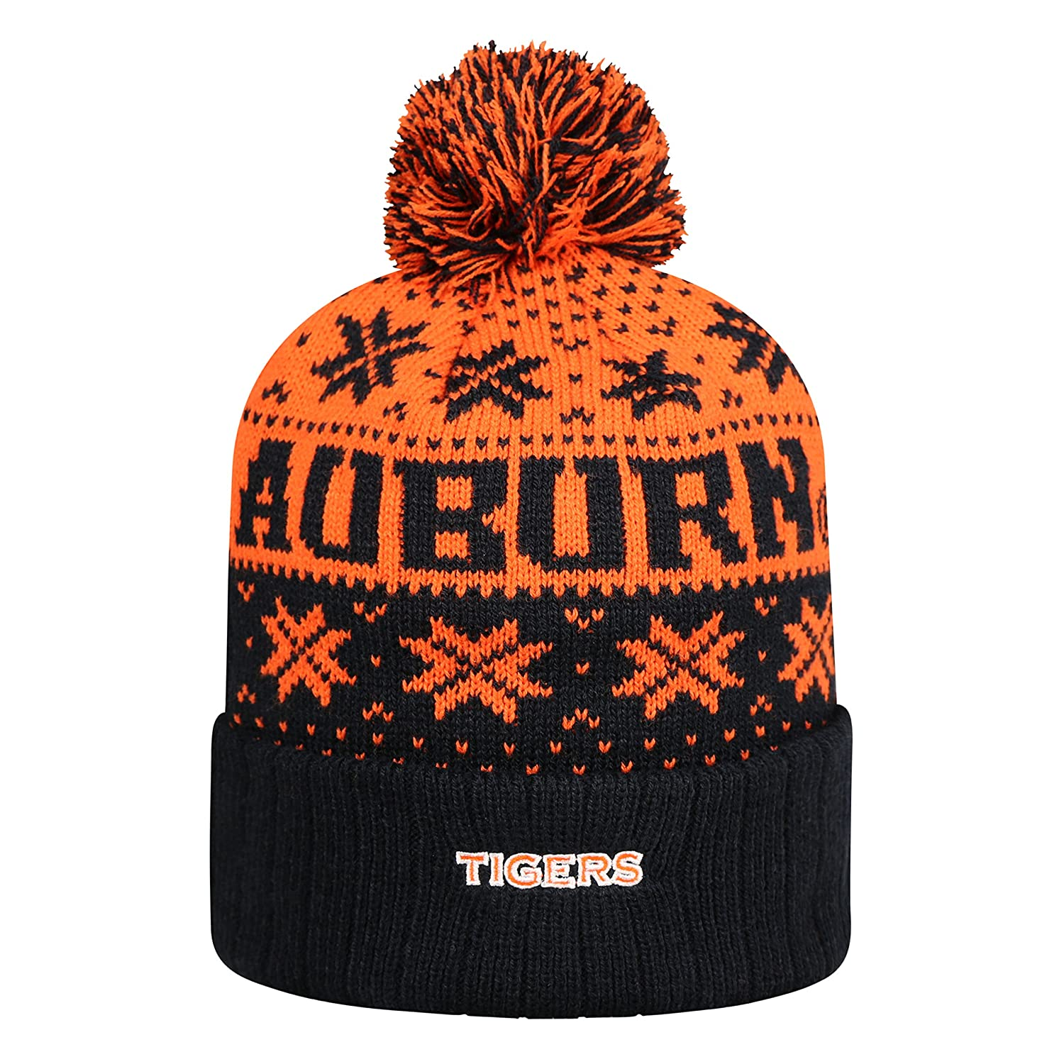 Amazon.com   Top of the World Auburn Tigers Subarctic Cuffed Pom Knit Beanie  Hat Cap   Sports   Outdoors 0cb8d969d50b