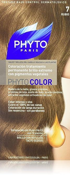 phyto color coloration soin permanente haute brillance aux pigments vgtaux couleur n7 - Coloration Color Et Soin