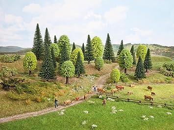 NOCH 26911 - Juego de 10 árboles mixtos para bosque (5 - 14 ...