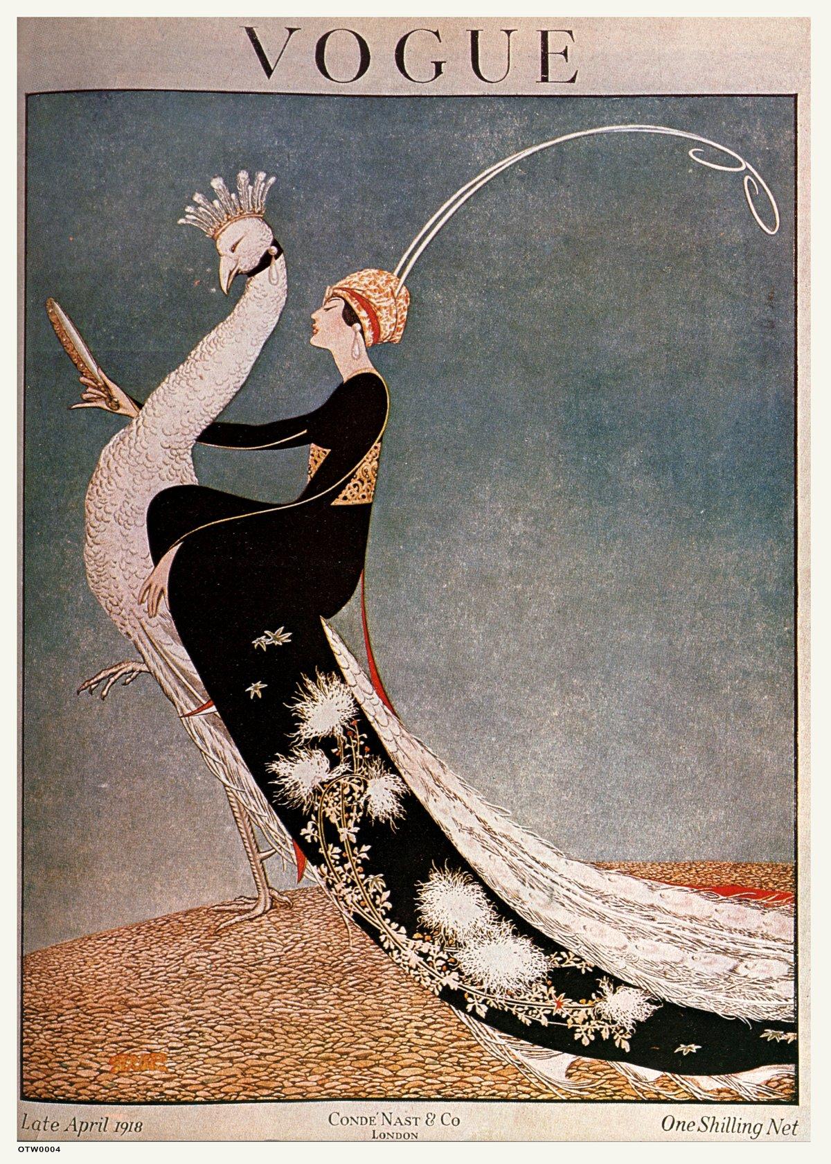 Vintage Vogue Cover April 1918 Poster Art Print