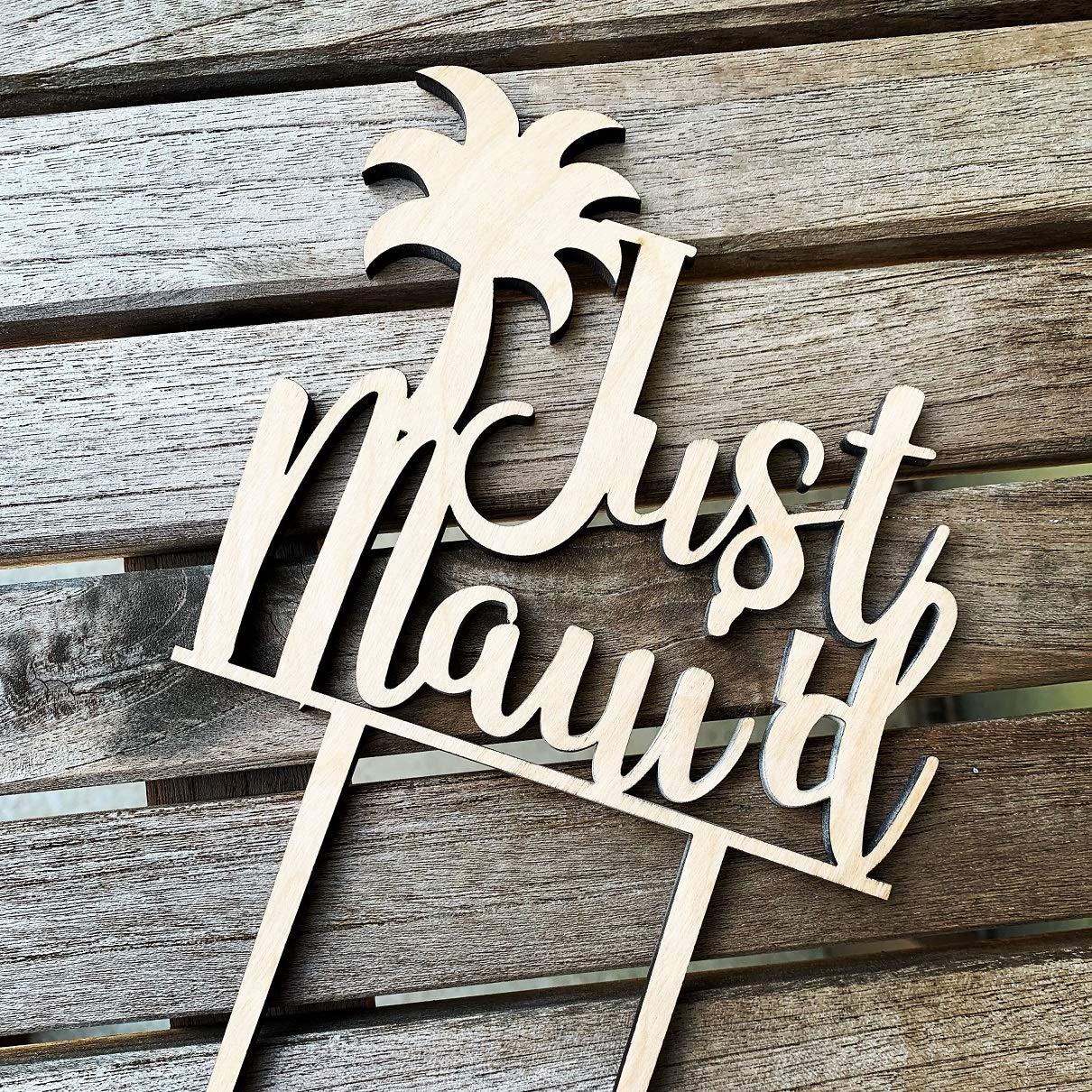 Maui/'d cake topper,bridal shower cake topper,engagement party decor,engagement party decor,bachelorette party,tropical wedding cake topper