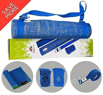 Amazon.com : YogiMall Natural Jute Yoga Mat Kit - Includes ...