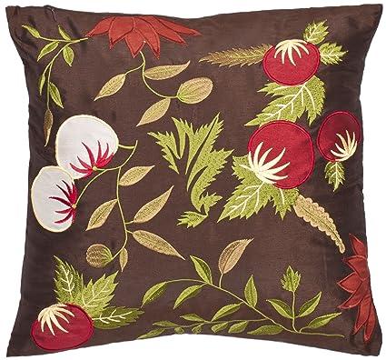 Amazon Safavieh Pillow Collection Oriental Garden 40Inch Brown Custom Oriental Decorative Pillows