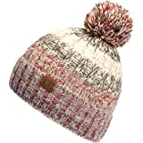 C.C Exclusives Women's Winter Seed Stitched Confetti Pom Beanie Hat (HAT-2214)